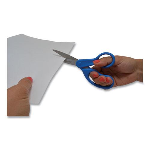 Westcott Preferred Line Stainless Steel Scissors  8  Long  3 5  Cut Length  Blue Straight Handle (ACM41218)