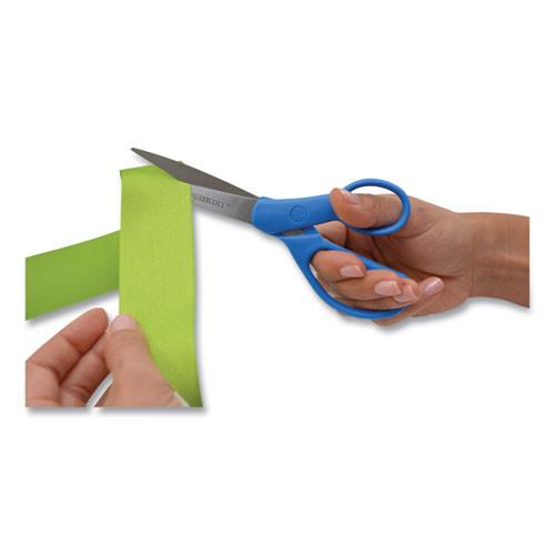 Westcott Preferred Line Stainless Steel Scissors  7  Long  3 25  Cut Length  Blue Offset Handle (ACM43217)