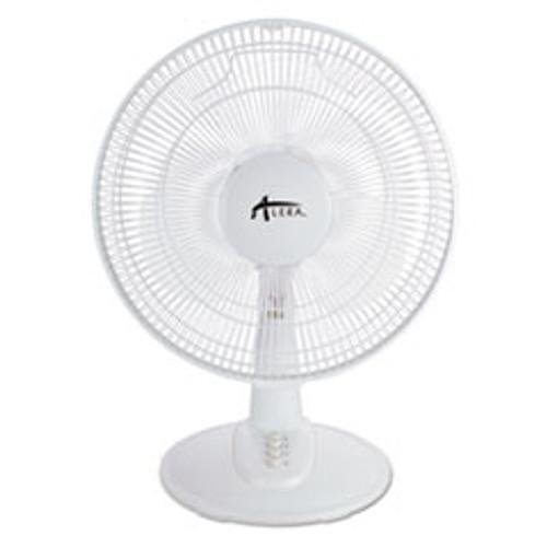 Alera 12  3-Speed Oscillating Desk Fan  Plastic  White (ALEFAN122W)