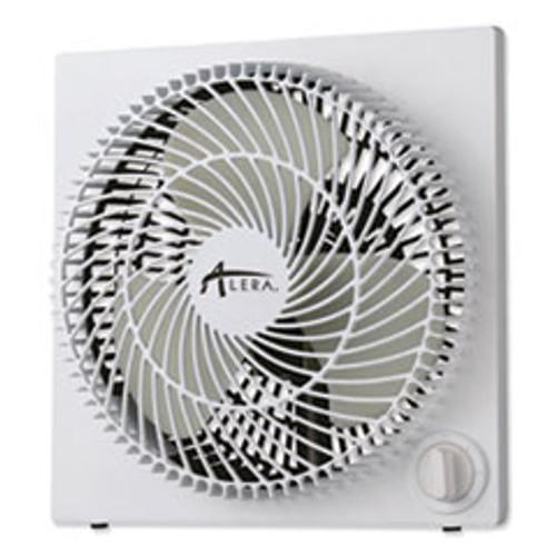 Alera 9  3-Speed Desktop Box Fan  Plastic  White (ALEFANBX10B)