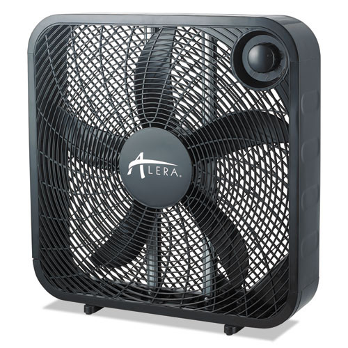 Alera 3-Speed Box Fan  Black (ALEFANBX20B)