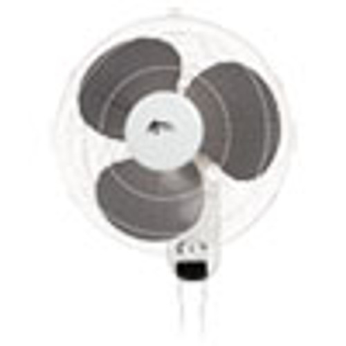 Alera Wall Mount Fan  3-Speed  White (ALEFANWM16W)