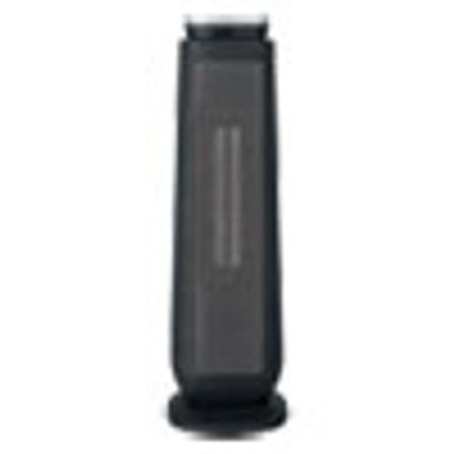 Alera Ceramic Heater Tower with Remote Control  7 17  x 7 17  x 22 95   Black (ALEHECT24)
