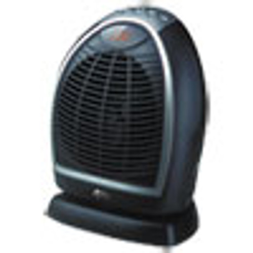 Alera Digital Fan-Forced Oscillating Heater  1500W  9 1 4  x 7  x 11 3 4   Black (ALEHEFF12B)