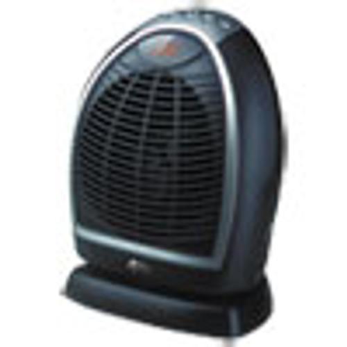 Alera Digital Fan-Forced Oscillating Heater  1500W  9 1 4  x 7  x 11 3 4   Black (ALEHEFF12B)
