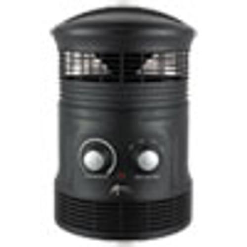 Alera 360 Deg Circular Fan Forced Heater  8  x 8  x 12   Black (ALEHEFF360B)