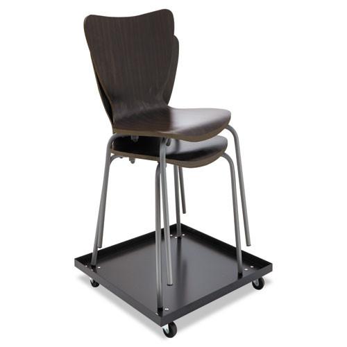 Alera Stacking Chair Dolly  22 44w x 22 44d x 3 93h  Black (ALESCCART)