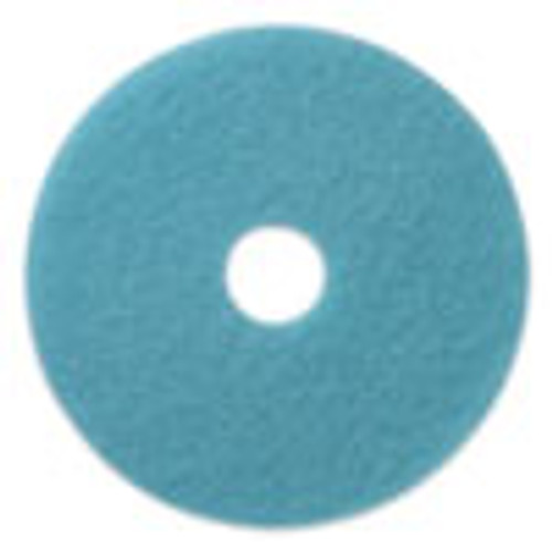 Americo Luster Lite Burnishing Pads  20  Diameter  Sky Blue  5 CT (AMF402120)