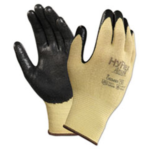 AnsellPro HyFlex CR Gloves  Size 7  Yellow Black  Kevlar Nitrile  24 Pack (ANS115007)