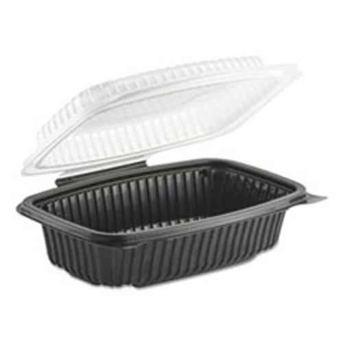 Anchor Packaging Culinary Classics Microwavable Container  34 oz  Clear Black  100 Carton (ANZ4656911)