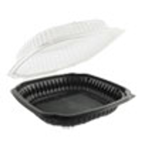 Anchor Packaging Culinary Classics Microwavable Container  47 5 oz  Clear Black  100 Carton (ANZ4659611)