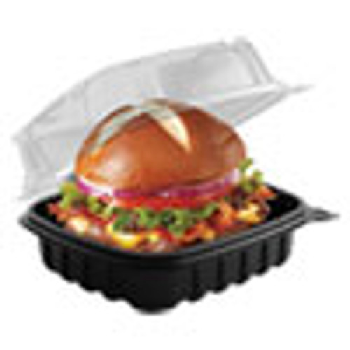 Anchor Packaging Culinary Basics Microwavable Container  18 oz  6 36 x 6 18 x 2 96  Clear Black  420 Carton (ANZ4666611)