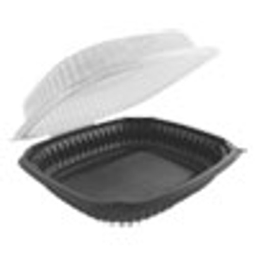Anchor Packaging Culinary Lites Microwavable Container  47 5 oz  10 56 x 9 98 x 3 18  Clear Black  100 Carton (ANZ4699610)