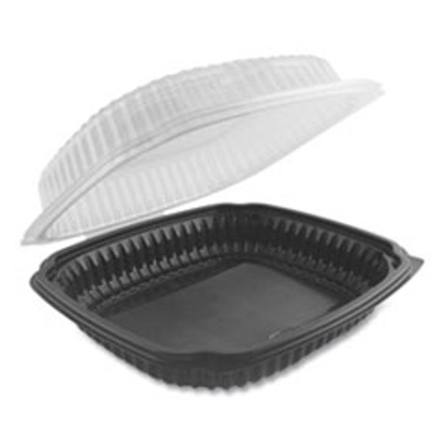 Anchor Packaging Culinary Lites Microwavable Container  39 oz  9 x 9 x 3 01  Clear Black  100 Carton (ANZ4699911)