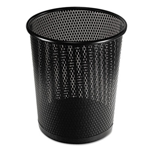 Artistic Urban Collection Punched Metal Wastebin  20 24 oz  9  Diameter  Steel  Black Satin (AOPART20017)