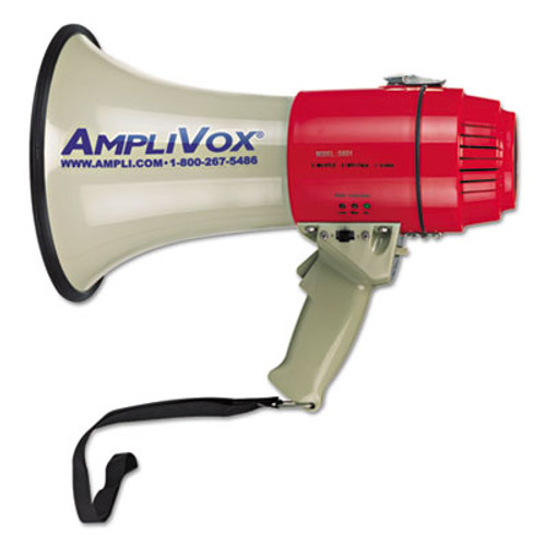 AmpliVox MityMeg Piezo Dynamic Megaphone  15W  5 8 Mile Range (APLS601)