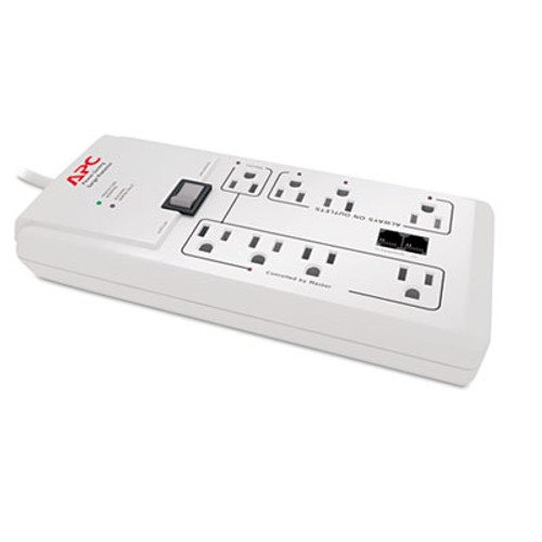 APC Home Office SurgeArrest Protector  8 Outlets  6 ft Cord  2030 Joules  White (APWP8GT)