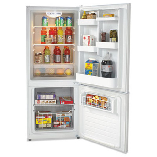 Avanti Bottom Mounted Frost-Free Freezer Refrigerator  10 2 Cubic Feet  White (AVAFFBM92H0W)