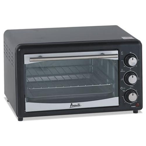 Avanti Toaster Oven  4 Slice Capacity  Stainless Steel Black (AVAPOW61B)