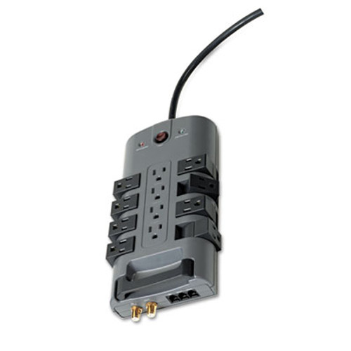 Belkin Pivot Plug Surge Protector  12 Outlets  8 ft Cord  4320 Joules  Gray (BLKBP11223008)