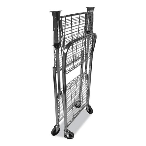 Bostitch Stowaway Folding Carts  2 Shelves  35w x 37 25d x 22h  Black  250 lb Capacity (BOSBSACLGBLK)