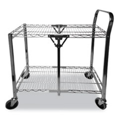 Bostitch Stowaway Folding Carts  2 Shelves  29 63w x 37 25d x 18h  Black  250 lb Capacity (BOSBSACSMBLK)