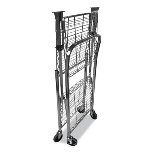 Bostitch Stowaway Folding Carts  2 Shelves  29 63w x 37 25d x 18h  Black  250 lb Capacity (BOSBSACSMBLK)