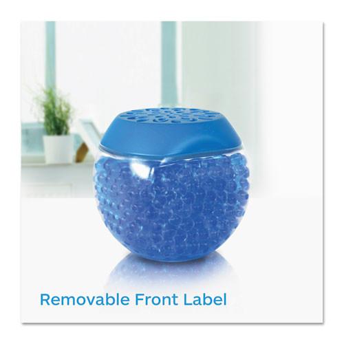BRIGHT Air Scent Gems Odor Eliminator  Cool and Clean  Blue  10 oz  6 Carton (BRI900228CT)