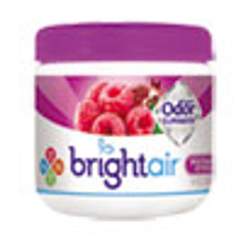 BRIGHT Air Super Odor Eliminator  Wild Raspberry   Pomegranate  14 oz Jar  6 Carton (BRI900286CT)