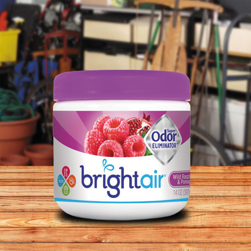 BRIGHT Air Super Odor Eliminator  Wild Raspberry   Pomegranate  14 oz Jar (BRI900286EA)
