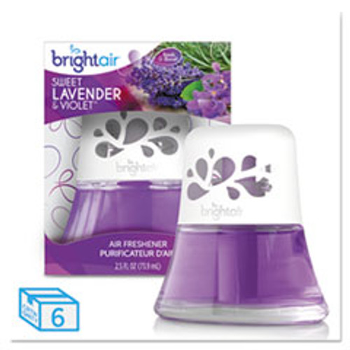 BRIGHT Air Scented Oil Air Freshener Sweet Lavender and Violet  2 5 oz  6 Carton (BRI900288CT)