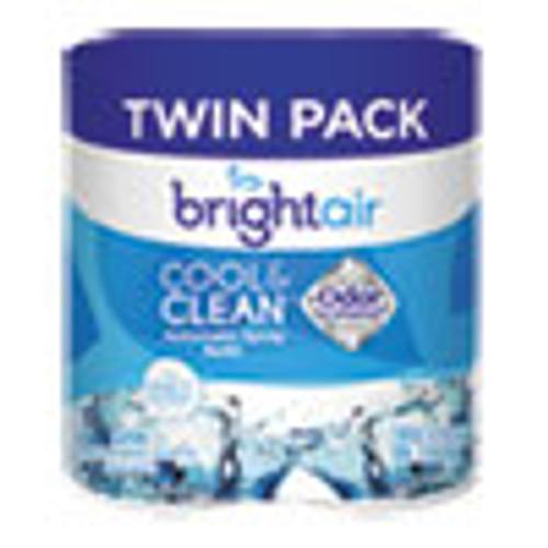 BRIGHT Air Automatic Spray Air Freshener Refill  Cool   Clean  6 17 oz  2 Pack (BRI900345PK)