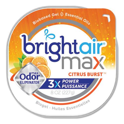 BRIGHT Air Max Odor Eliminator Air Freshener  Citrus Burst  8 oz  6 Carton (BRI900436)