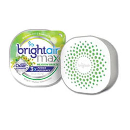 BRIGHT Air Max Odor Eliminator Air Freshener  Meadow Breeze  8 oz  6 Carton (BRI900438)
