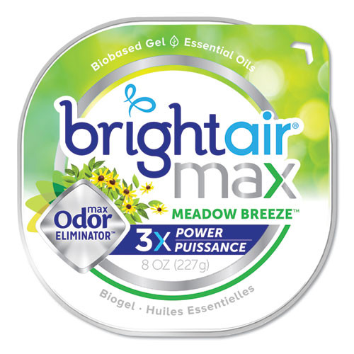 BRIGHT Air Max Odor Eliminator Air Freshener  Meadow Breeze  8 oz  6 Carton (BRI900438)
