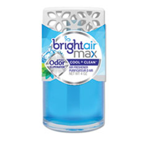 BRIGHT Air Max Scented Oil Air Freshener  Cool and Clean  4 oz  6 Carton (BRI900439)