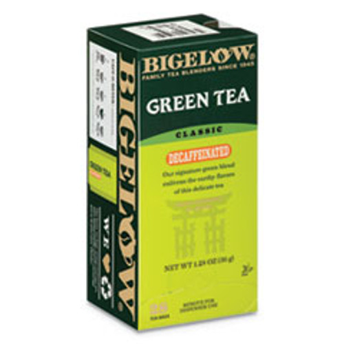 Bigelow Decaffeinated Green Tea  Green Decaf  0 34 lbs  28 Box (BTC10347)