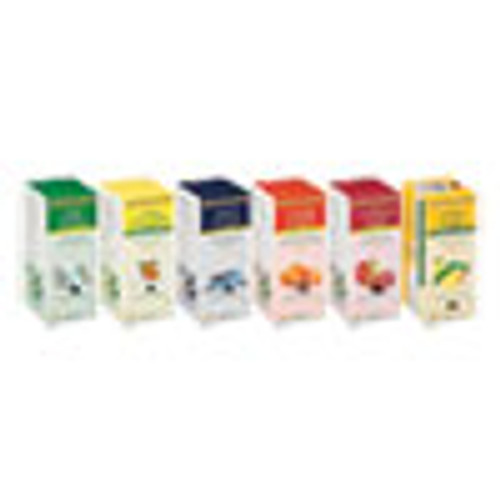 Bigelow Assorted Tea Packs  Six Flavors  28 Box  168 Carton (BTC17578)