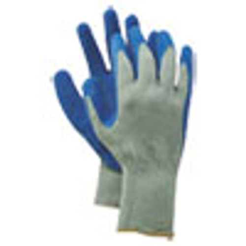 Boardwalk Rubber Palm Gloves  Gray Blue  Large  1 Dozen (BWK00027L)