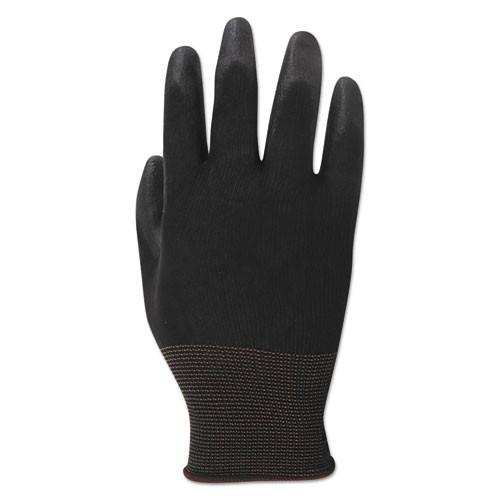 Boardwalk PU Palm Coated Gloves  Black  Size 8  Medium   1 Dozen (BWK000288)