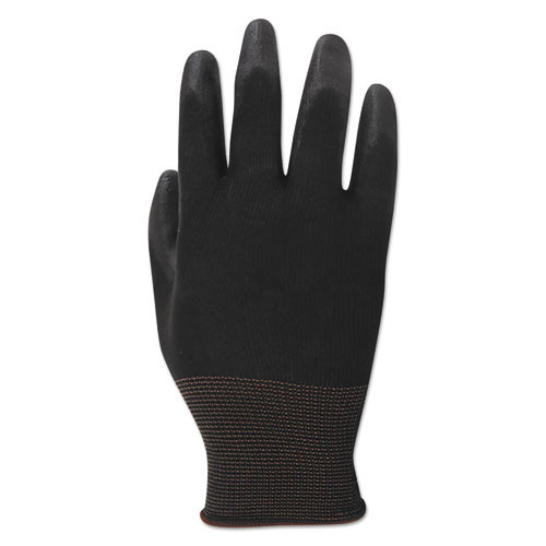 Boardwalk PU Palm Coated Gloves  Black  Size 9  Large   1 Dozen (BWK000289)