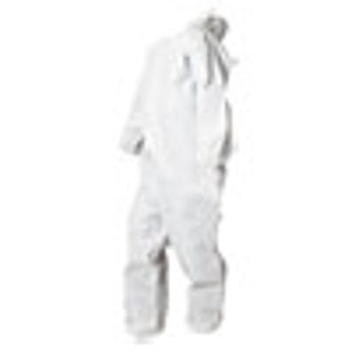 Boardwalk Disposable Coveralls  White  Large  Polypropylene  25 Carton (BWK00032L)