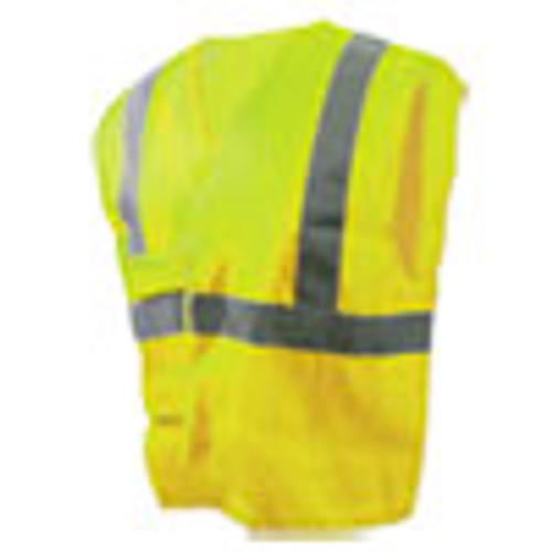 Boardwalk Class 2 Safety Vests  Lime Green Silver  Standard (BWK00036)