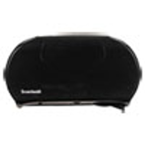 Boardwalk Jumbo Twin Toilet Tissue Dispenser  20 1 4 x 12 1 4  Black (BWK1529)