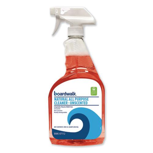 Boardwalk Natural All Purpose Cleaner  Unscented  32 oz Spray Bottle  12 Carton (BWK47112)