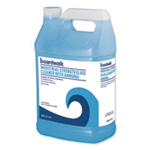 Boardwalk Industrial Strength Glass Cleaner with Ammonia  1 Gal Bottle (BWK4714AEA)
