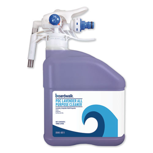 Boardwalk PDC All Purpose Cleaner  Lavender Scent  3 Liter Bottle  2 Carton (BWK4811)