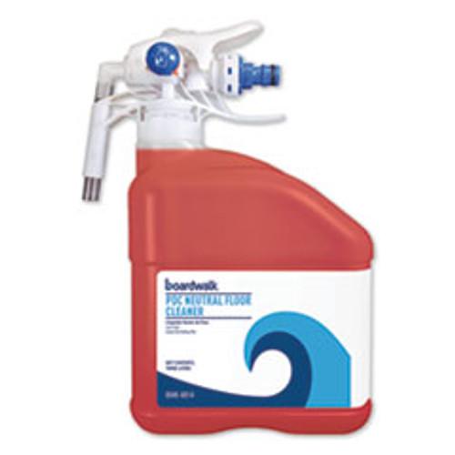 Boardwalk PDC Neutral Floor Cleaner  Tangy Fruit Scent  3 Liter Bottle  2 Carton (BWK4814)