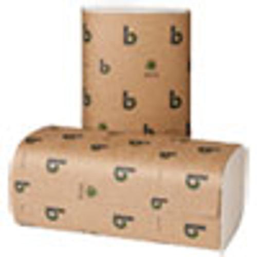 Boardwalk Boardwalk Green Single-Fold Towels  Natural White 9 1 8x10 1 4  250 Pk 16 Pks CT (BWK52GREEN)