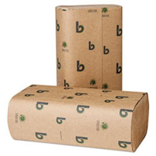 Boardwalk Boardwalk Green Multifold Towels  Natural  9 1 8 x 9 1 2  250 Pack  16 Packs CT (BWK53GREEN)